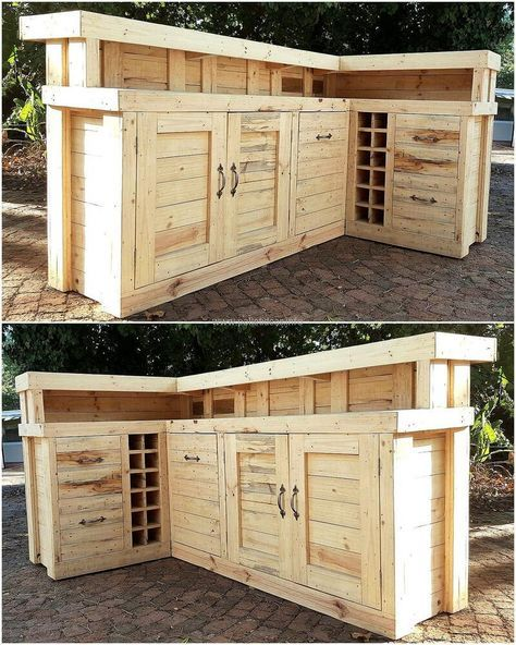 Diy Furniture Now See A Huge Repurposed Wood Pallet Bar Idea It