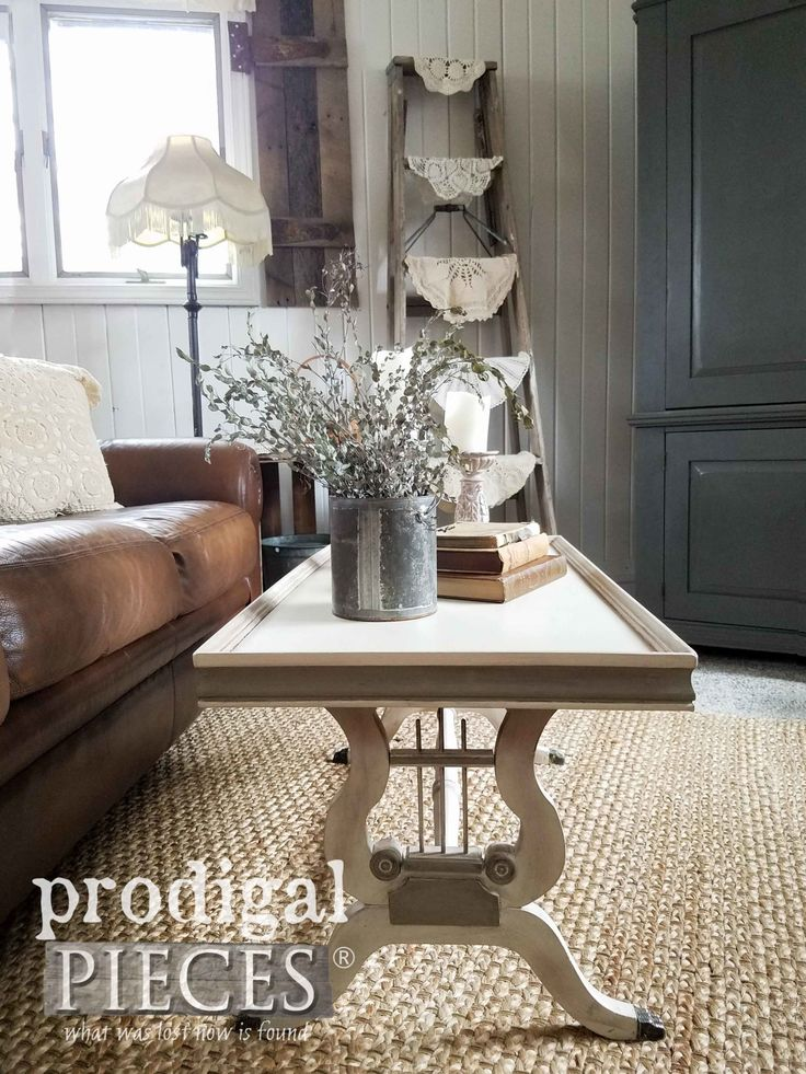 Restored Antique Coffee Table with Lyre Details by Larissa of Prodigal Pieces | ...