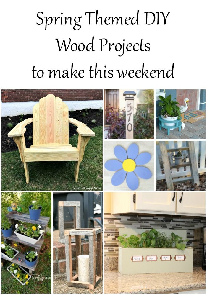 Diy Furniture Spring Themed Wood Projects My Repurposed Life