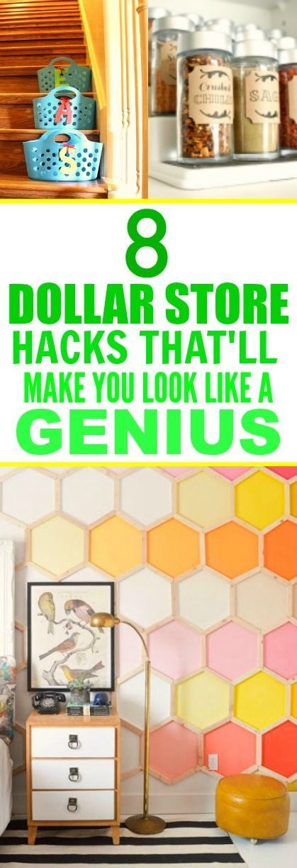 These 8 SUPER easy dollar store hacks are SO GOOD! I'm so happy I found this...