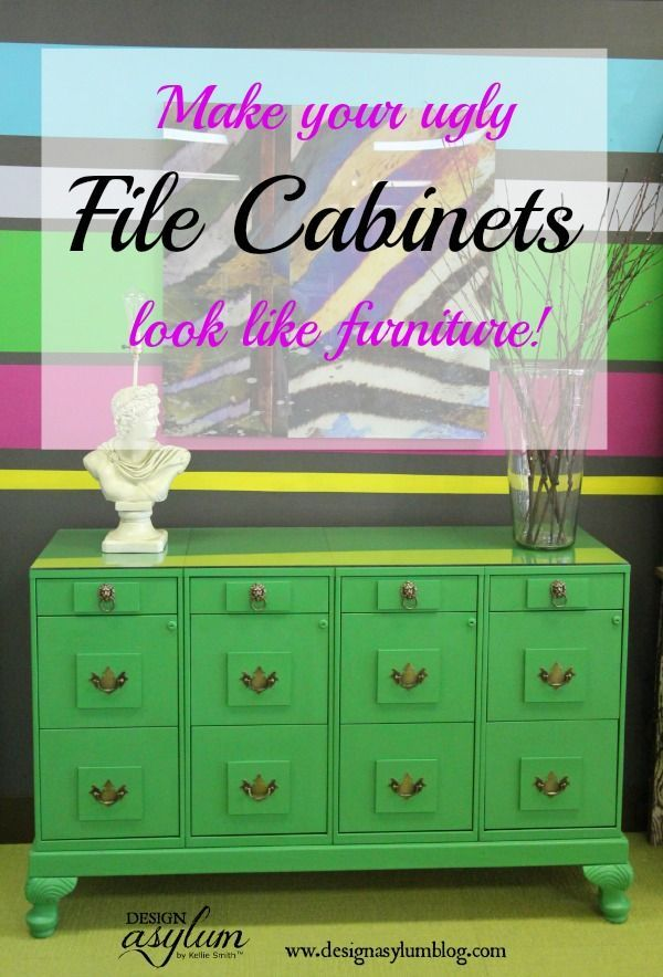 This DIY file cabinet makeover project with Velvet Finishes and lumber turns fil...