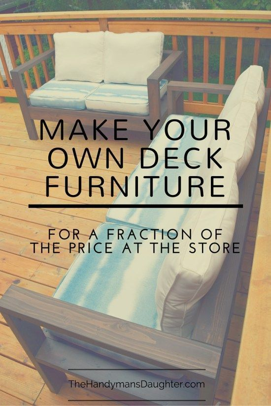Why spend a ton of money for plastic-y deck furniture when you can build your ow...
