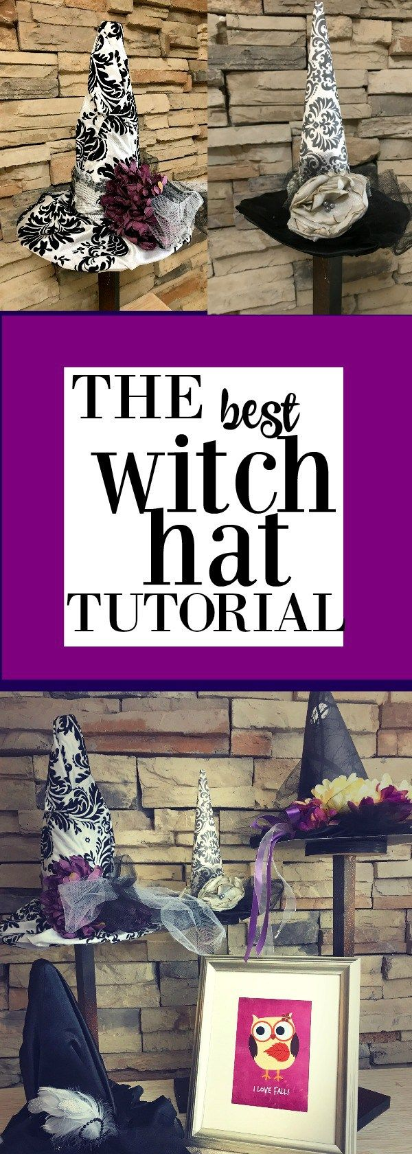 Witch hat Tutorial plus ideas on themes like Harry Potter and Practical Magic wi...