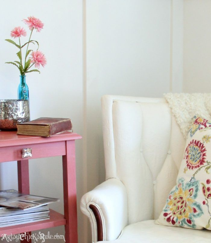 Yes, you can paint upholstery!!! Thrifty french chair makeover with Chalk Paint!...