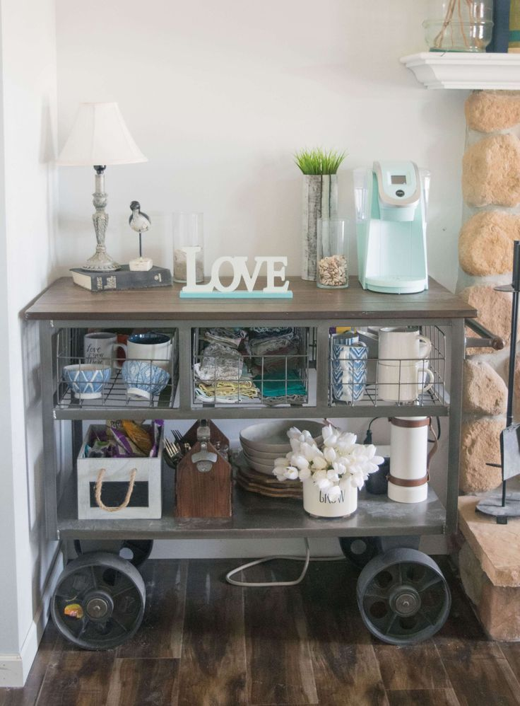 Kitchen Cart Decorating Ideas Spring Home Tour 20 Popular Decor Bloggers