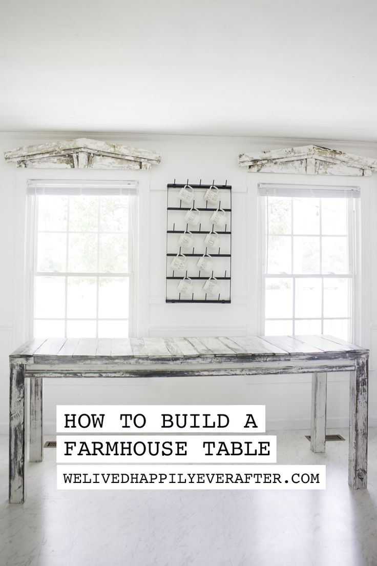 How To Build A 7 Foot Long Super Rustic Farmhouse Table (With Reclaimed Wood) - ...
