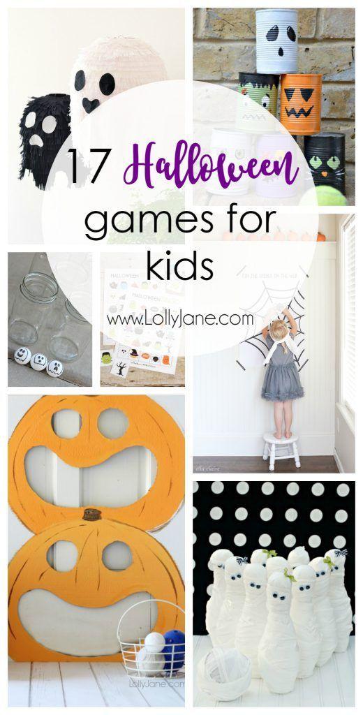 17 Halloween Games for Kids  #lollyjane