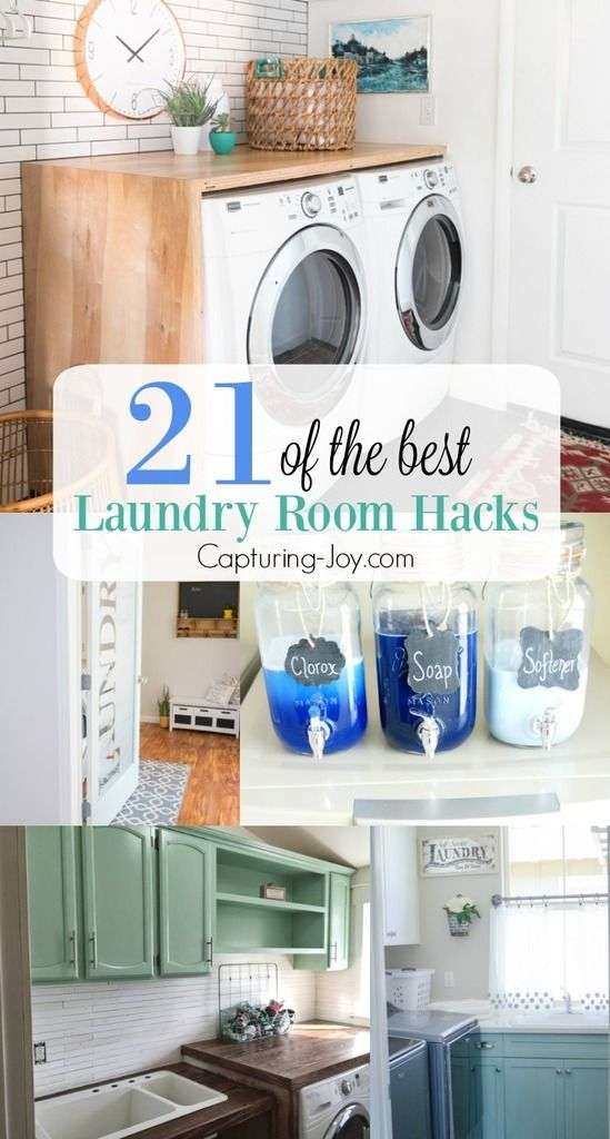21 of the Best Laundry Room Hacks is surely going to get your wheels turning for...