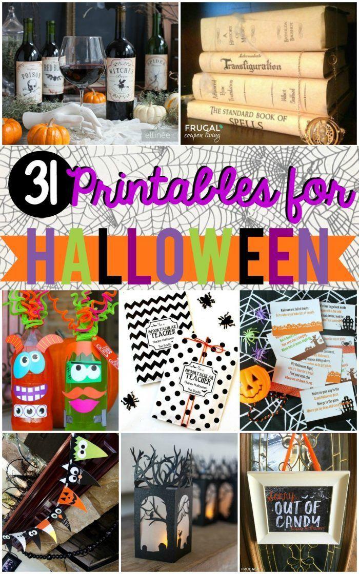 DIY Crafts : 31 FREE Halloween Printables on Frugal Coupon
