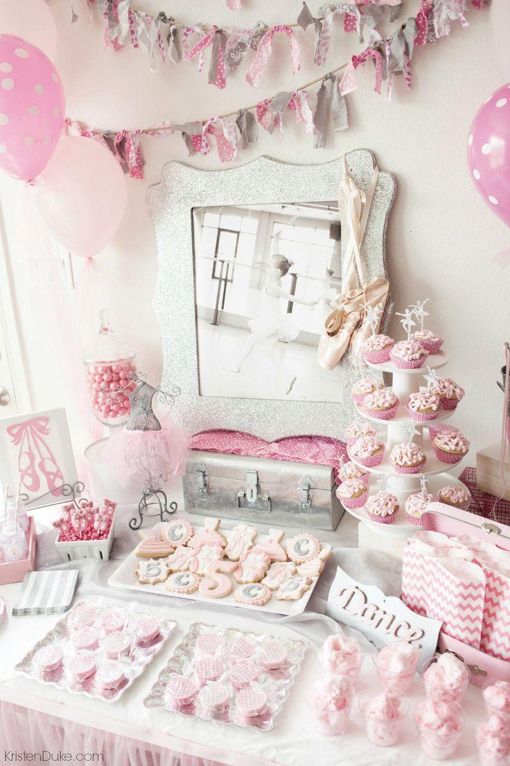 Ballerina Birthday Party for a girl who loves to dance! www.kristenduke.com #bal...