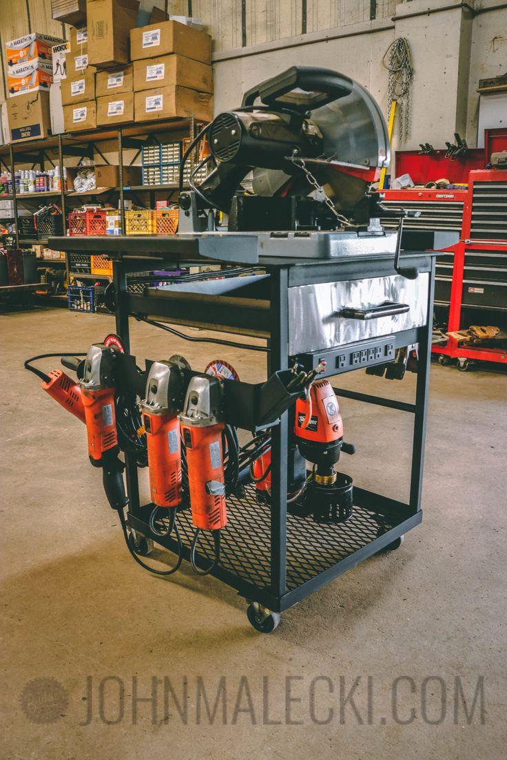 Diy Crafts Building The Ultimate Metal Tool Cart Diyall Net
