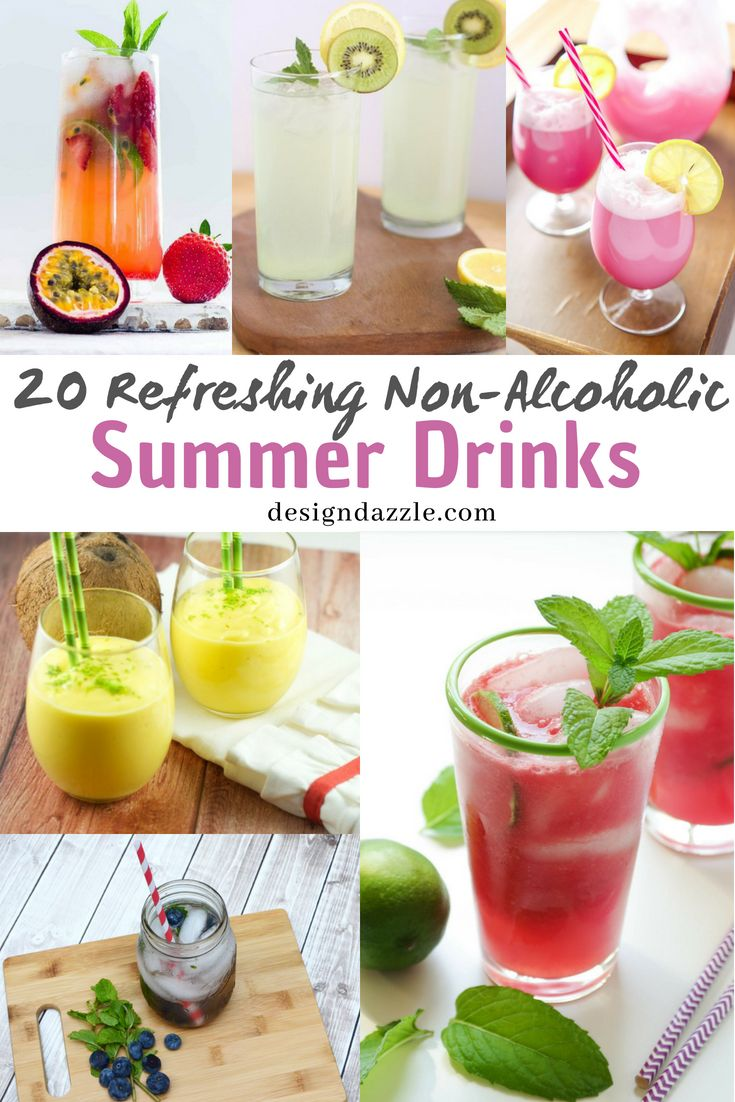 Check out our collection of non alcoholic summer drinks from the classic fruit j...