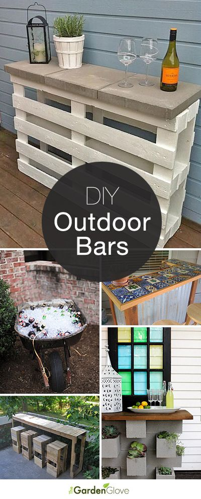 Cocktails Anyone? • DIY Outdoor Bars! • A round-up of Ideas and Tutorials fr...