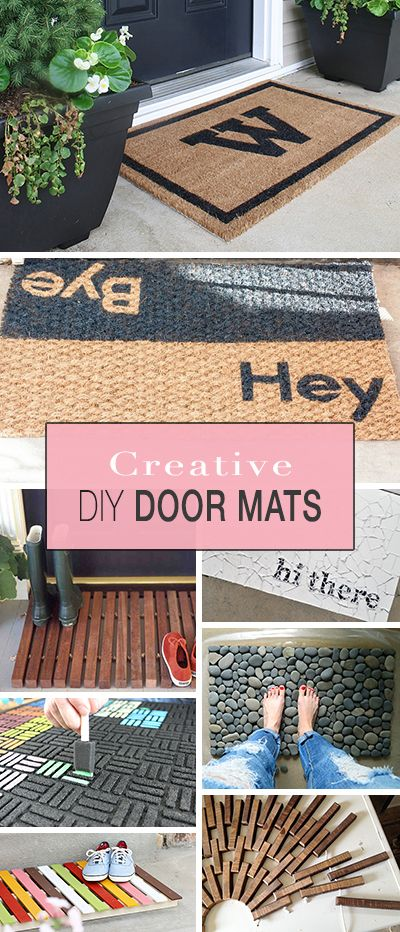 Creative Door Mats You Can Make Yourself • Lots of great ideas, projects & tut...