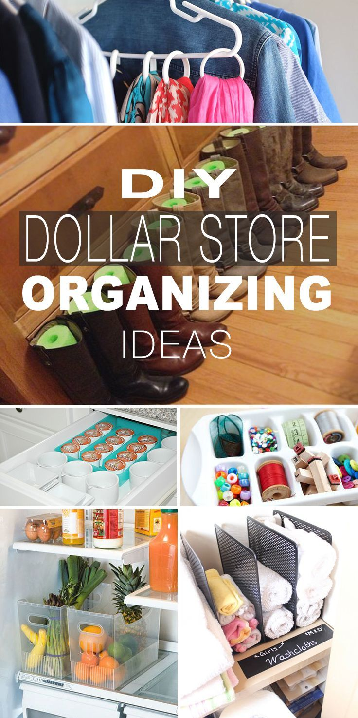 DIY Dollar Store Organizing Ideas (updated)! • Lot's of great tips and ideas o...