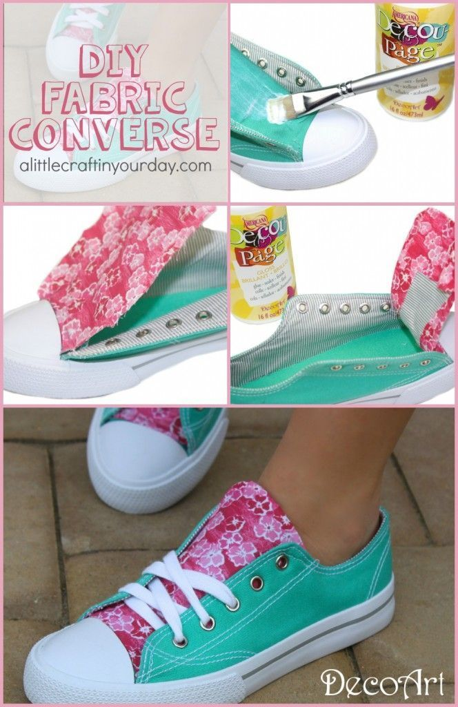 DIY Fabric Accent Sneakers - A Little Craft In Your DayA Little Craft In Your Da...