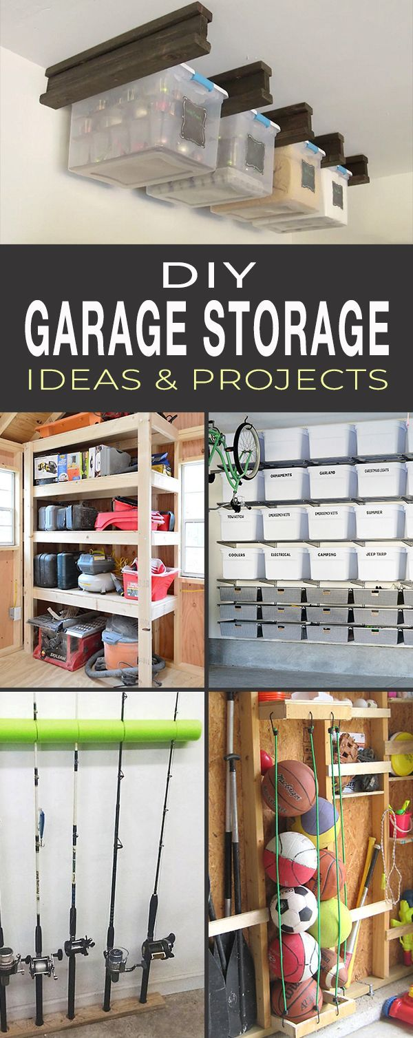 DIY Garage Storage Ideas & Projects! • Great tips, ideas and tutorials. Check ...