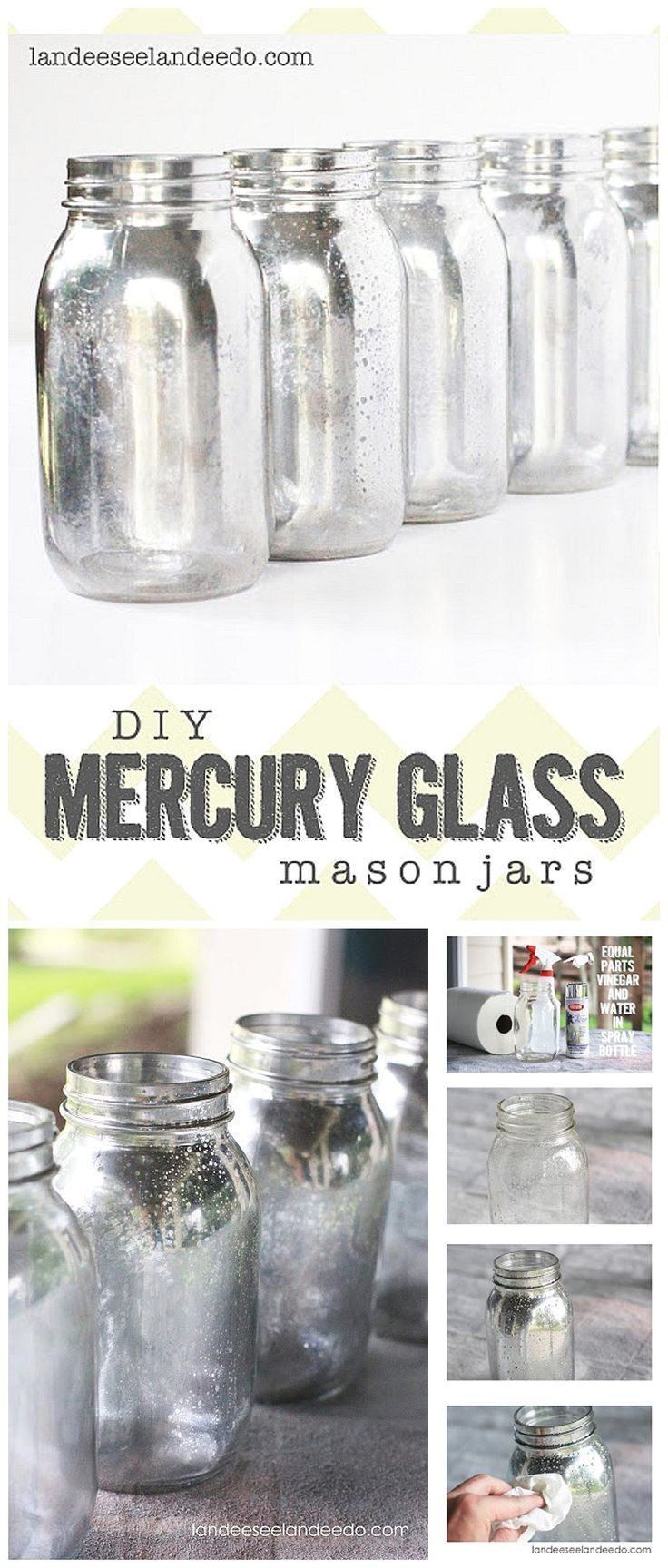 DIY Mercury Glass Mason Jars Tutorial - These can be used for SO many fun occasi...