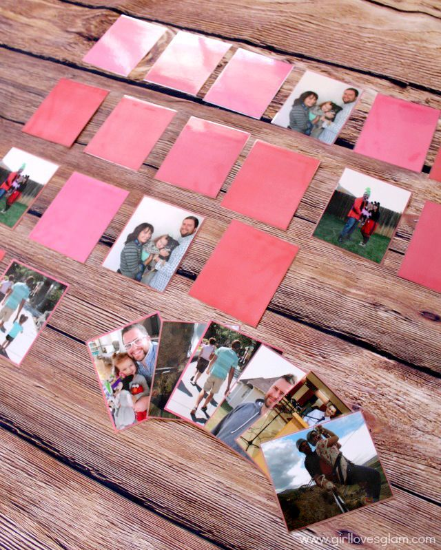 DIY Picture Memory Game with family photos! What a fun family activity! www.kris...