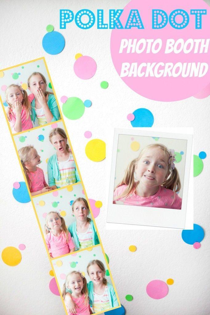 DIY Polka Dot Backdrop - This fun and easy to make Polka dot Photo Booth Backgro...