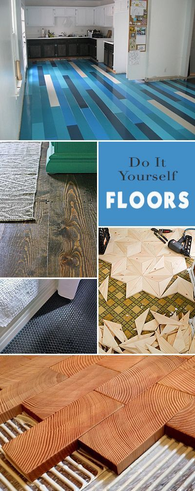 Do It Yourself Floors • Great ideas, projects and tutorials! • You too can l...
