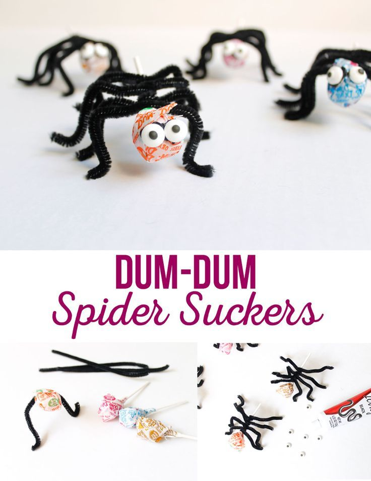Dum-Dum Spider Suckers are a quick and easy treat for any Halloween party. A fun...