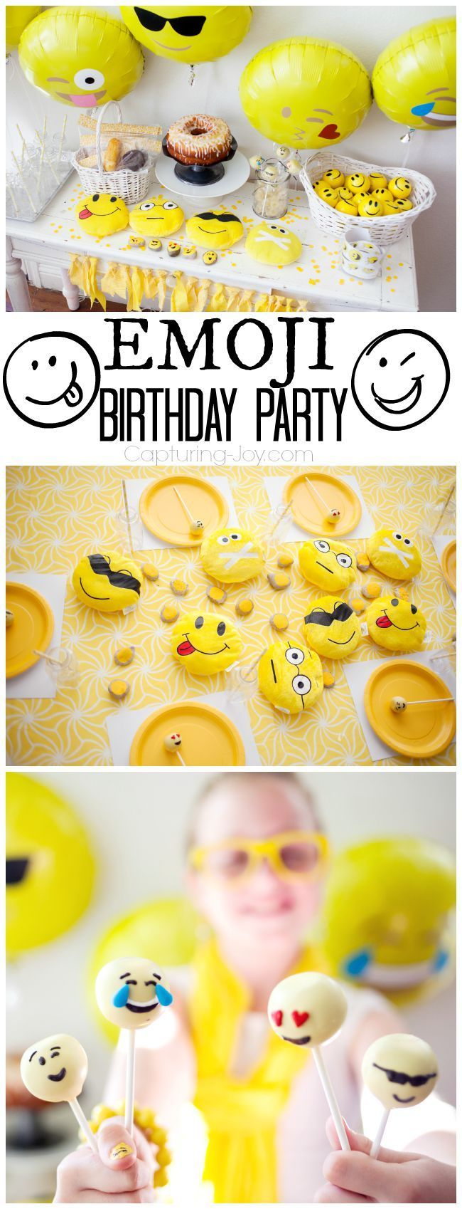 Emoji Birthday Party With Happy Face Emoticons Fun Theme And Ideas Ww