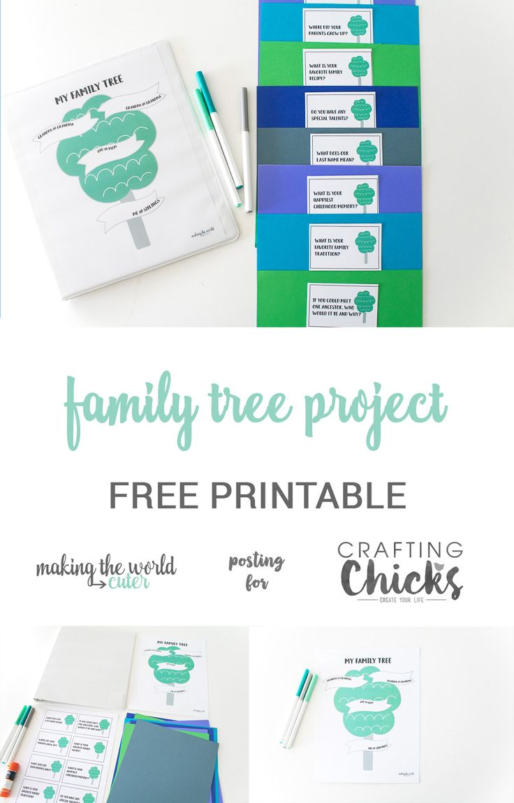 Diy Crafts Family Tree Project For Kids With Free Printable Tree