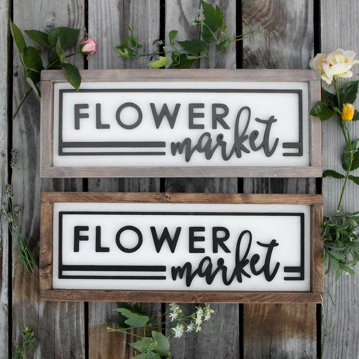 Flower Market | Handcrafted 3D Sign