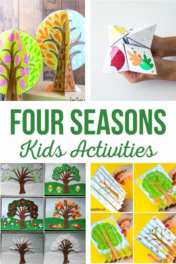 Diy Crafts Four Seasons Activities Kids Crafts And Activities