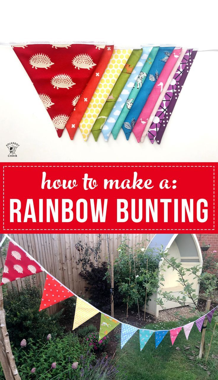 Free tutorial for a flag bunting. Includes bunting templates. Learn how to make ...