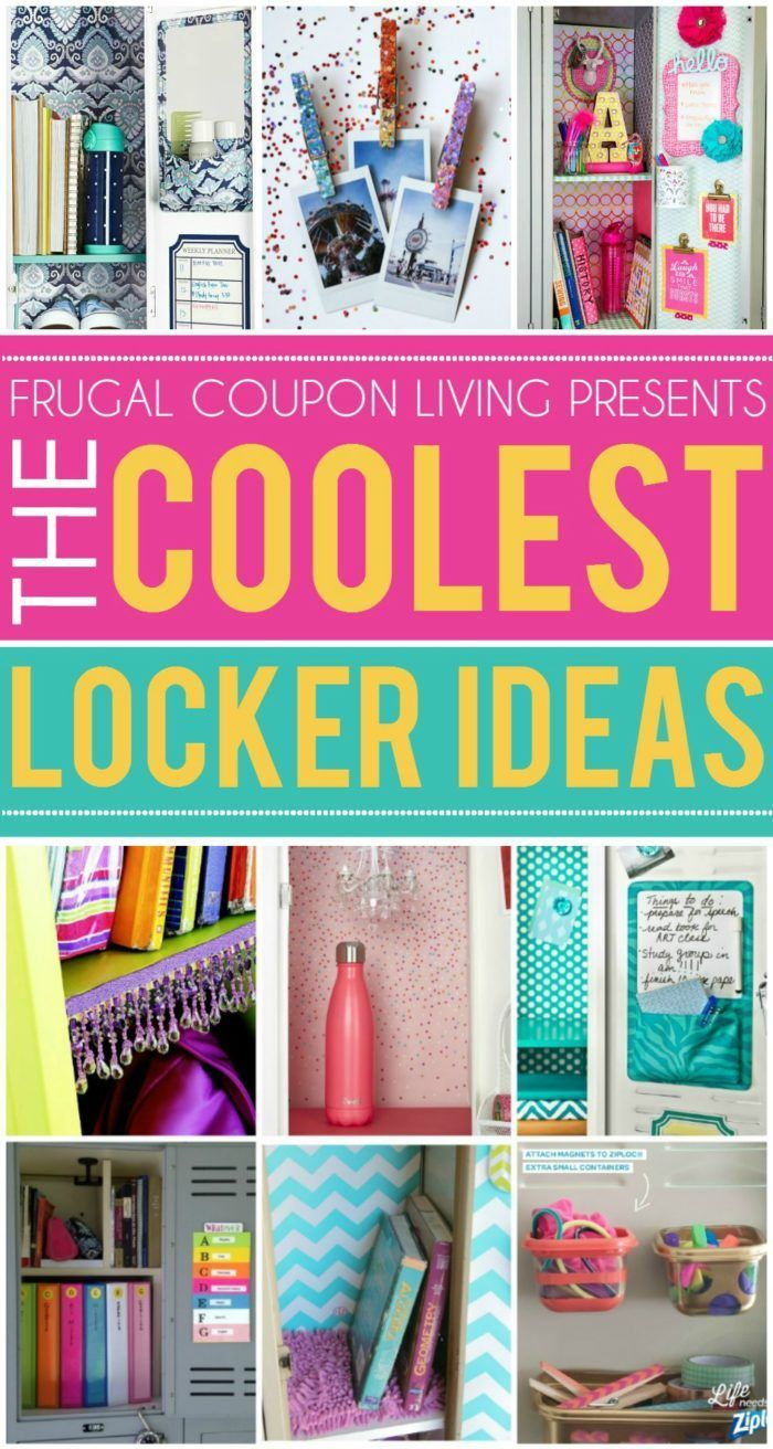 Fun and creative locker ideas for the coolest kid in the hall. School locker org...