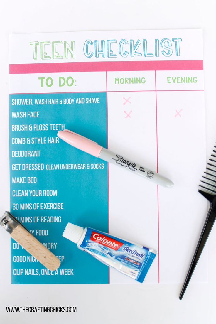 Diy Crafts Get Your Tween Or Teen In A Good Hygiene Routine With