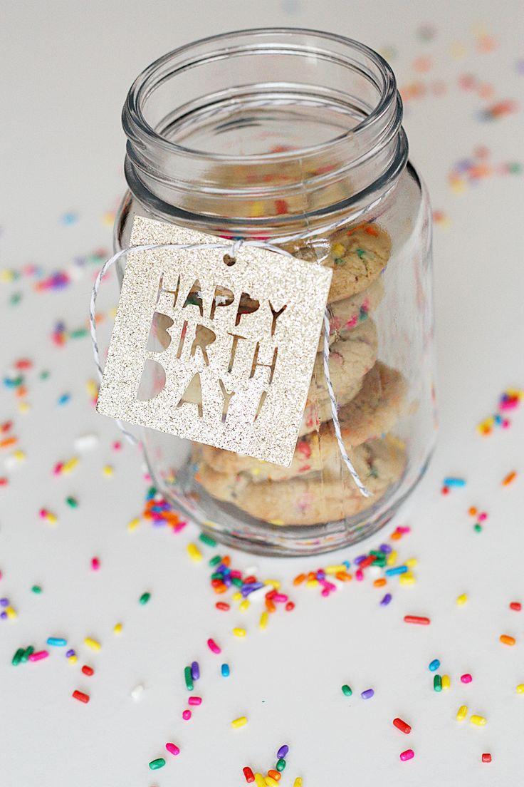 Diy Crafts Happy Birthday Glitter Gift Tags Cricut Cut