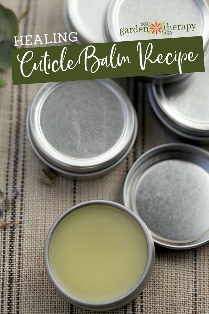 Healing Cuticle Balm Recipe - This soothing cuticle balm is packed with an herba...