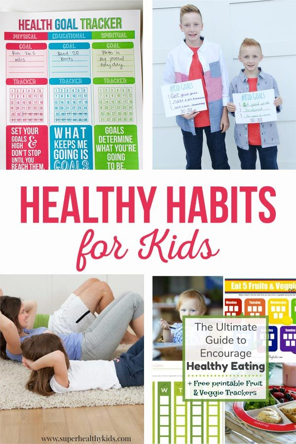 Healthy Habits for Kids | Building self esteem, exercise trackers, healthy eatin...