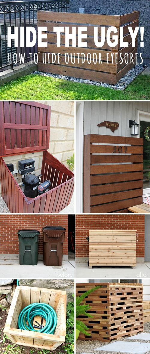 Hide the Ugly! • How to Hide Outdoor Eyesores! • This post shows you tons of...