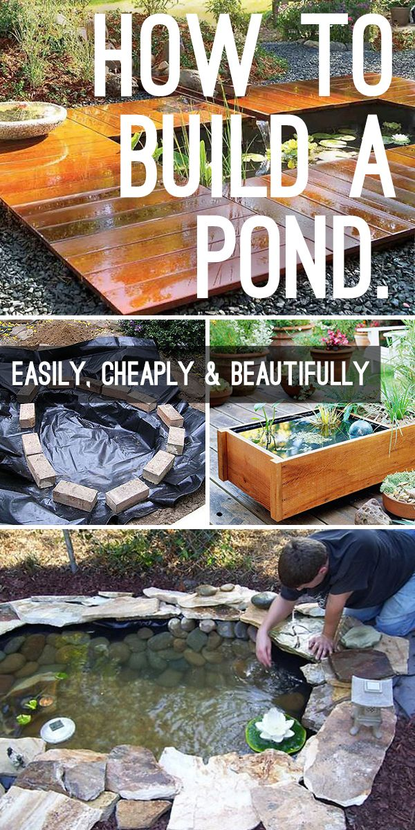 How to Build a Pond Easily, Cheaply and Beautifully - Step by step tutorial, gre...