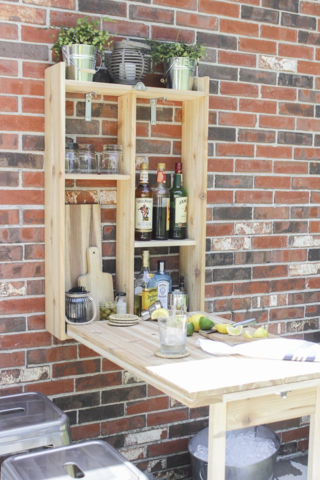 How to Build an Outdoor Murphy Bar using cedar wood. Easy build-- can be complet...