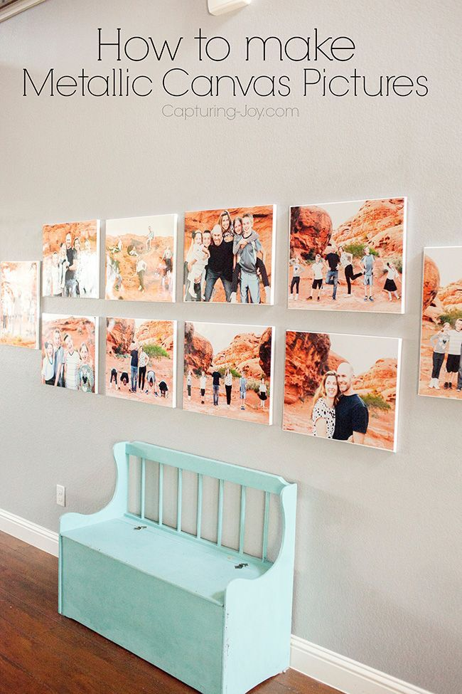 How to Make Metallic Canvas Pictures, a diy trick to make your own canvas look a...