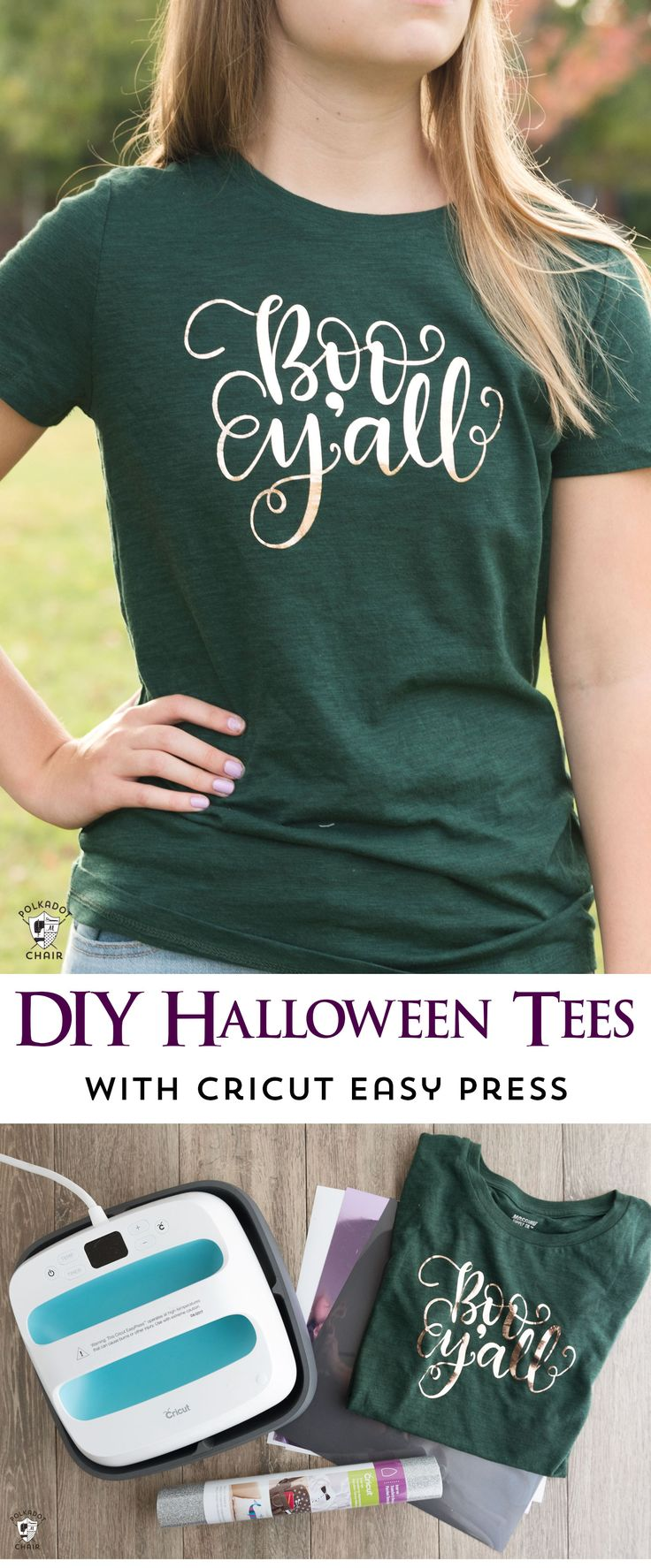 How to make cute Halloween t shirts with iron ons and a review of the new Cricut...