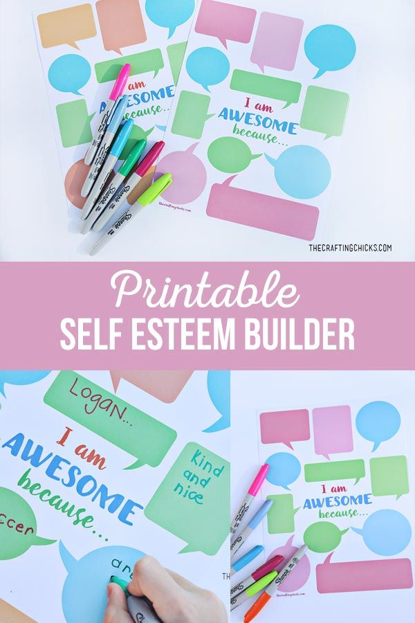 I Am Awesome Self Esteem Builder free printable to help your kids see the good i...