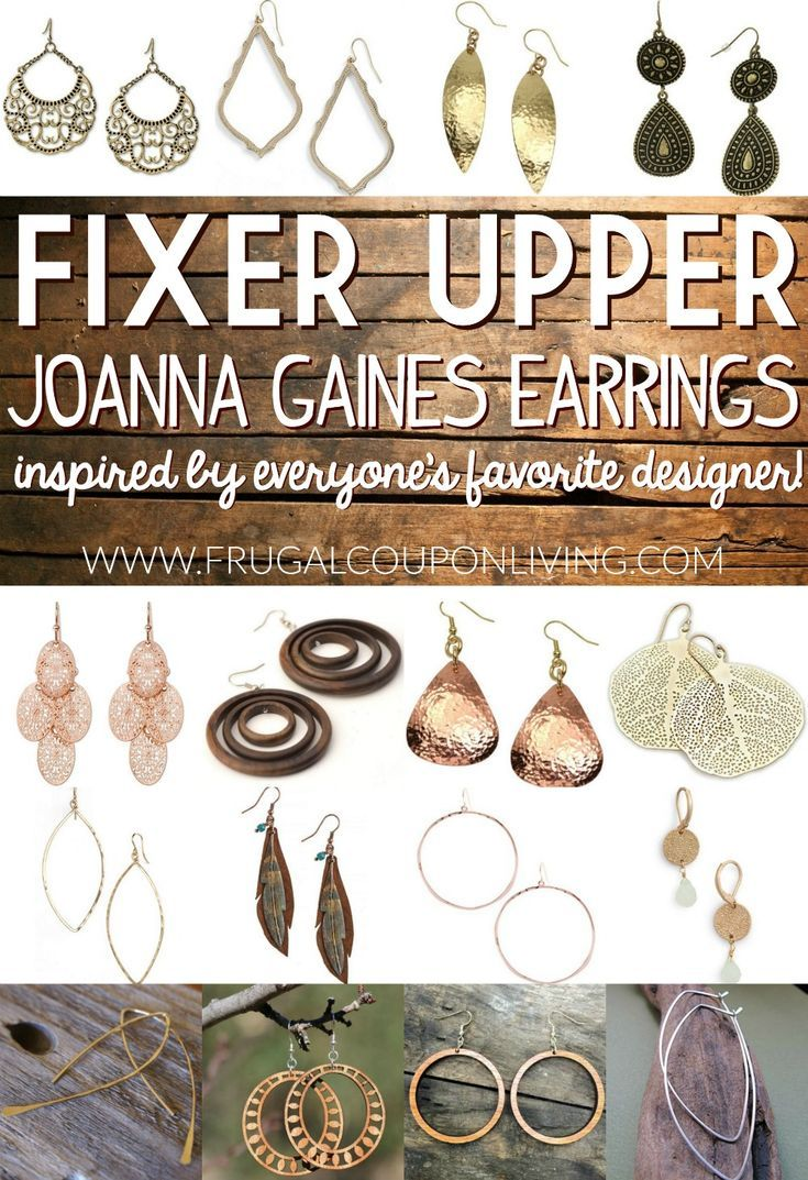 If you are a Fixer Upper Fan, you likely know how much Joanna Gaines Earrings st...