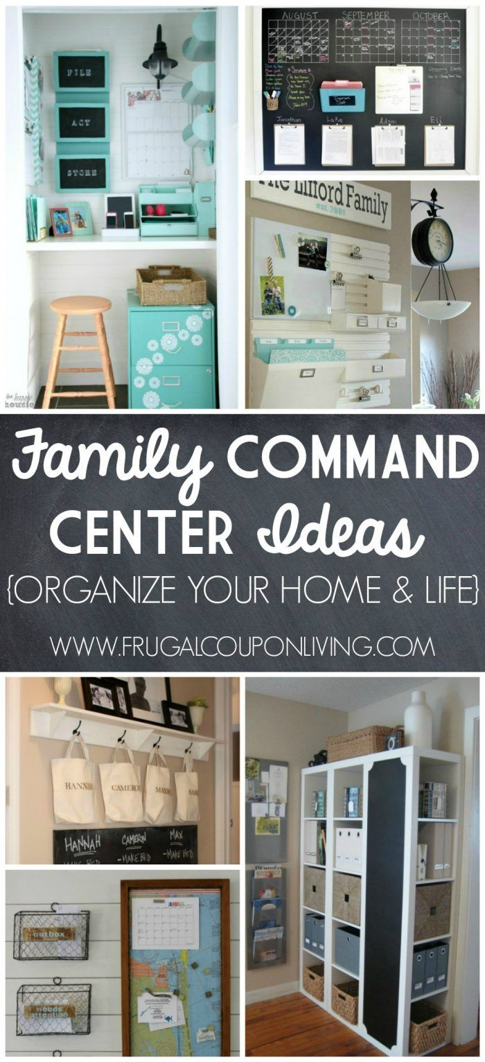 Inspiring Home Command Centers Ideas on Frugal Coupon Living. Organize your life...