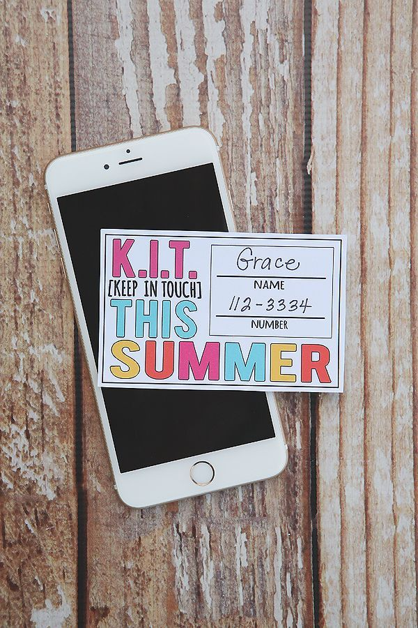 Keep In Touch Cards | Free Printable Cards #summer