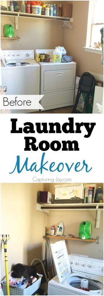 Laundry Room Make over before and after building custom cabinets. How to build D...