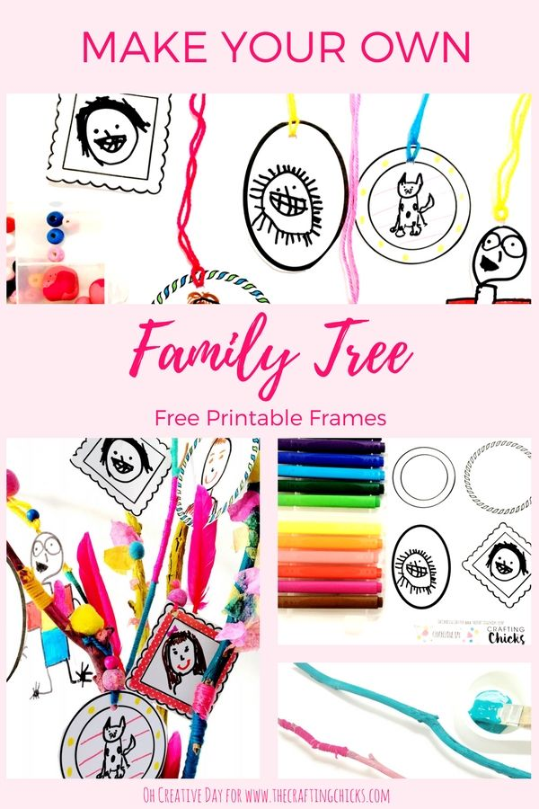 Diy Crafts Make Your Own Family Tree With These Adorable Free