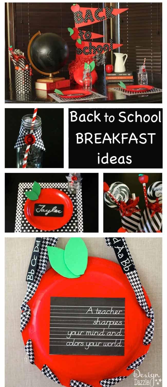 Make back to school breakfast or dinner idea a fun family tradition. Free printa...