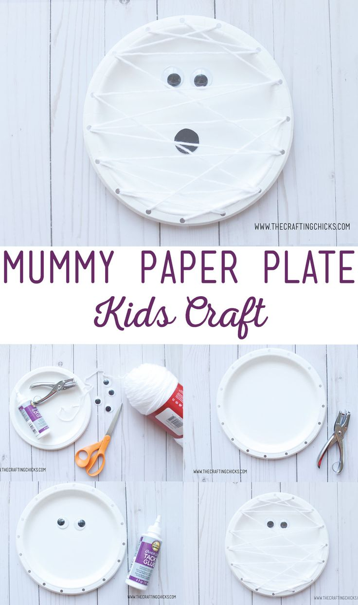 Diy Crafts Mummy Paper Plate Kids Craft Is A Great Way For Kids To