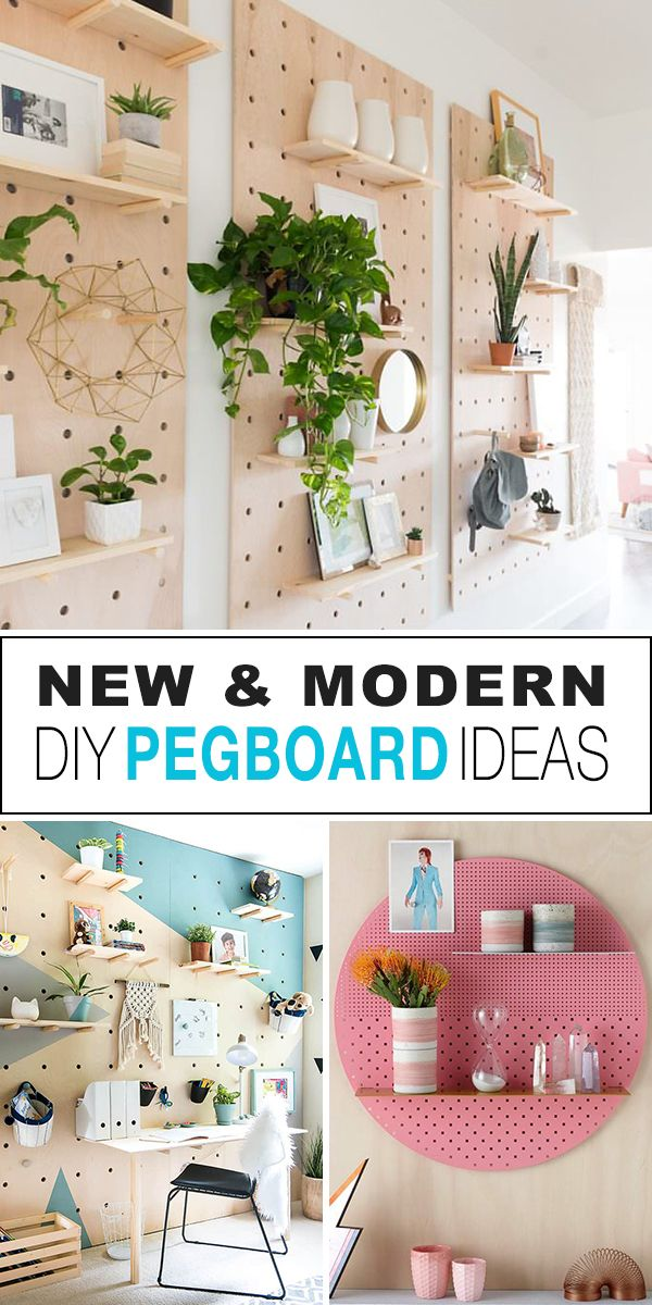 New & Modern DIY Pegboard Ideas! - Check out all these new types of pegboards yo...